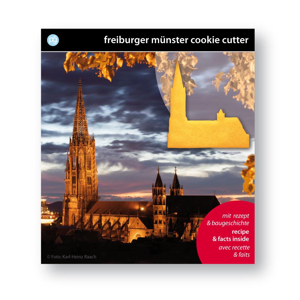 Münsterladen Freiburg Geschenk Keksausstecher Rückseite rot