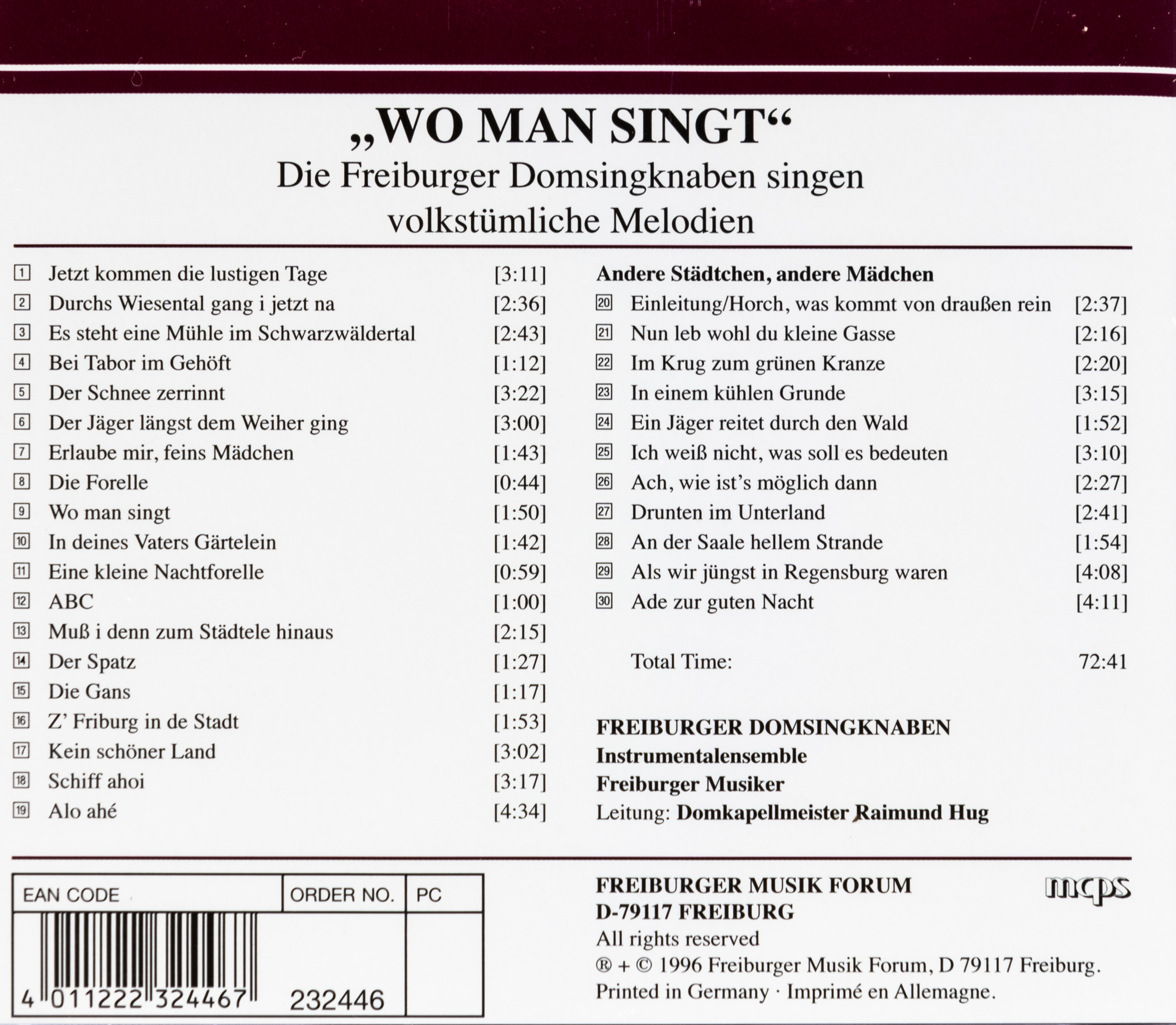 Münsterladen Freiburg CD Musik Wo man singt