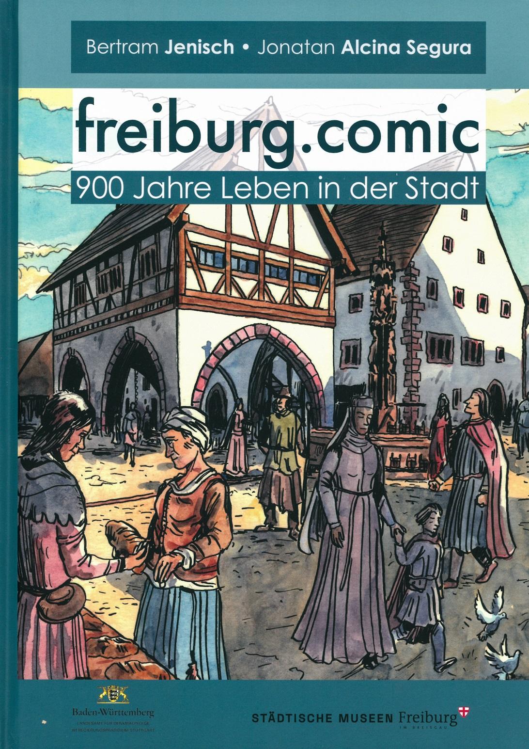Muenster-Laden-Freiburg-Comic-900-Jahre-Leben-in-der-Stadt