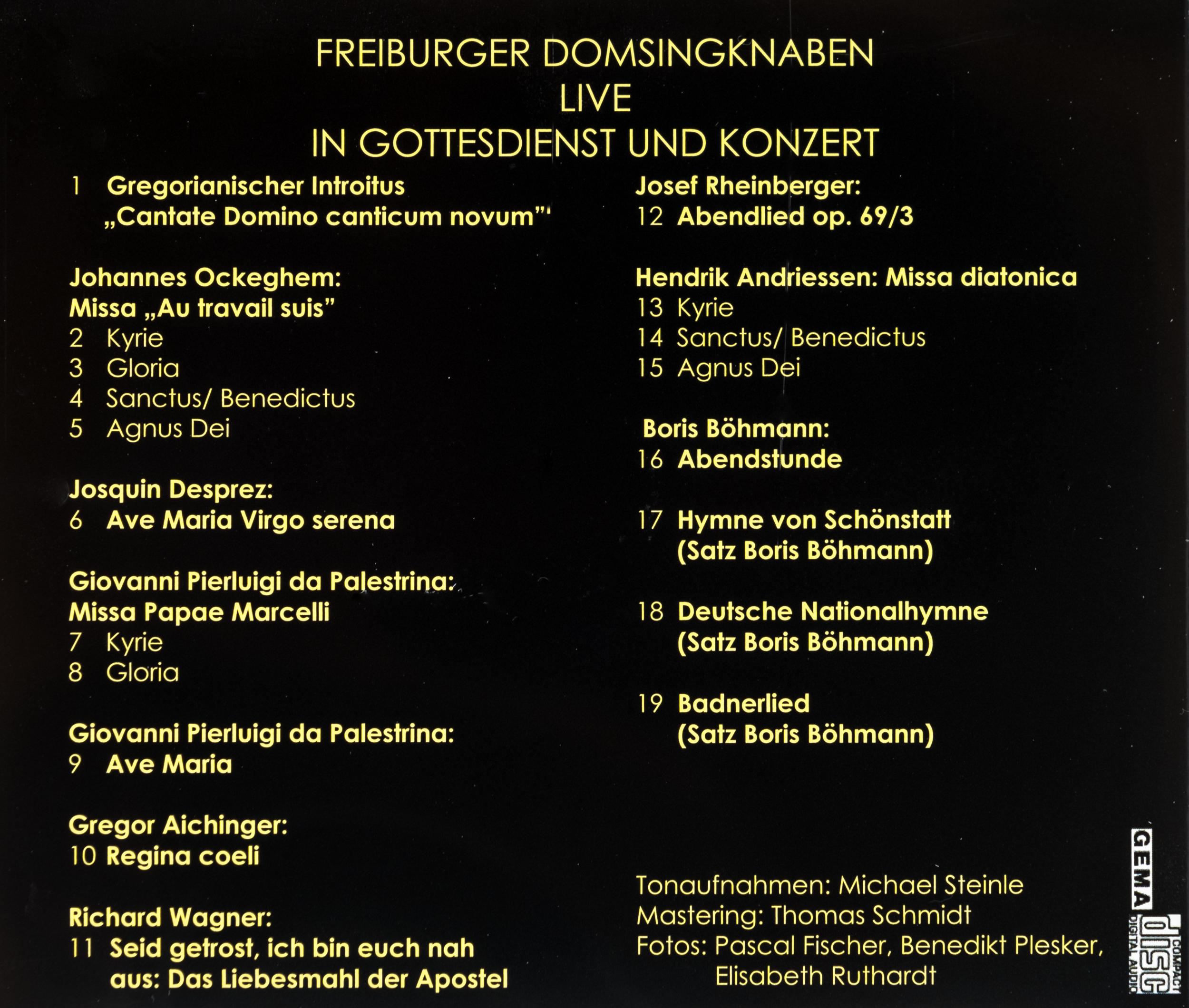 Münsterladen Freiburg Domsingknaben live