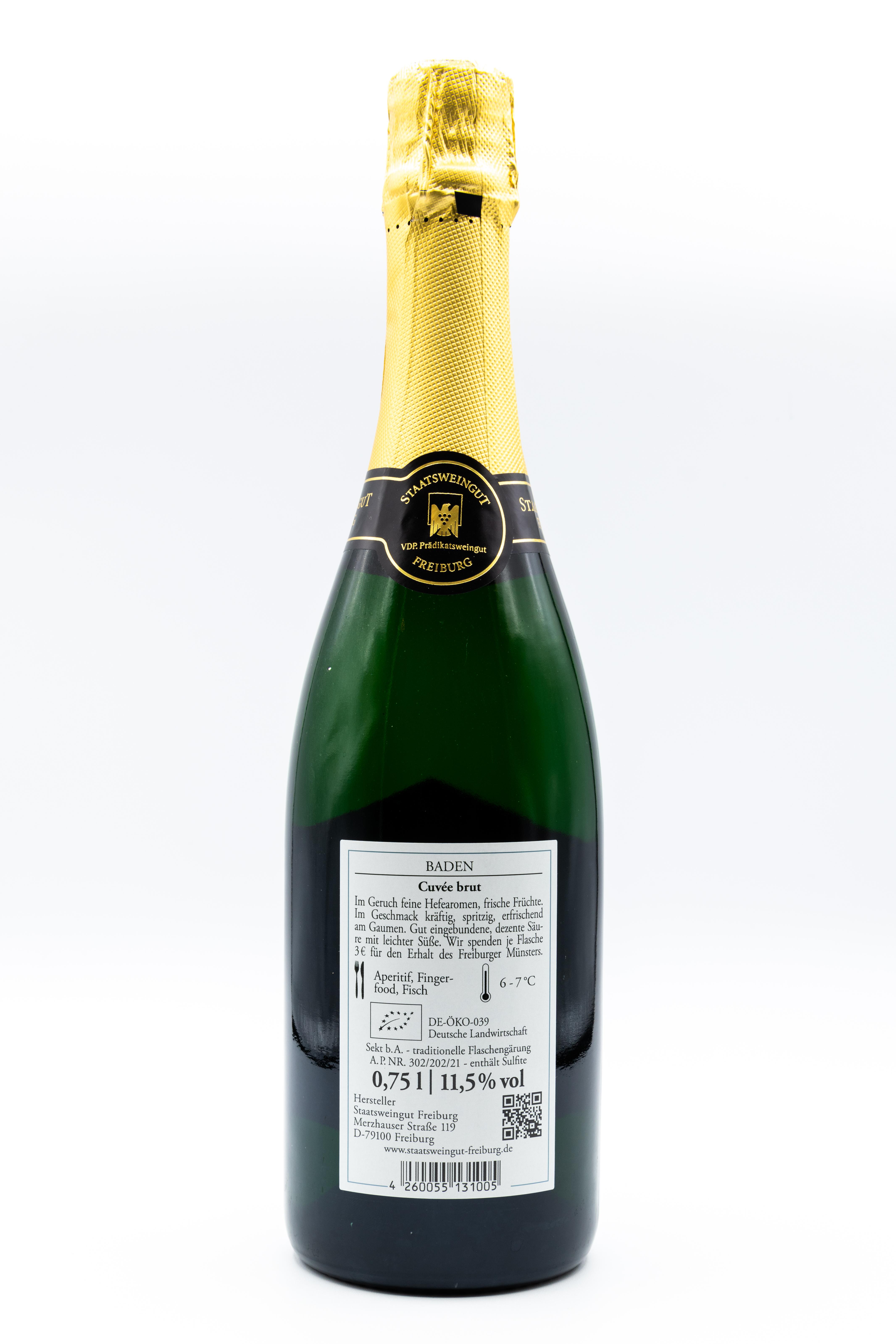 Cuvée BRUT Staatsweingut, Bio-Sekt 0,75 l