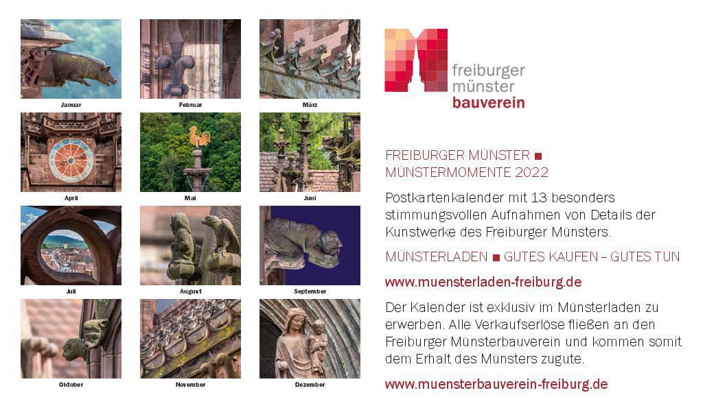 Postkartenkalender MÜNSTERMOMENTE 2022